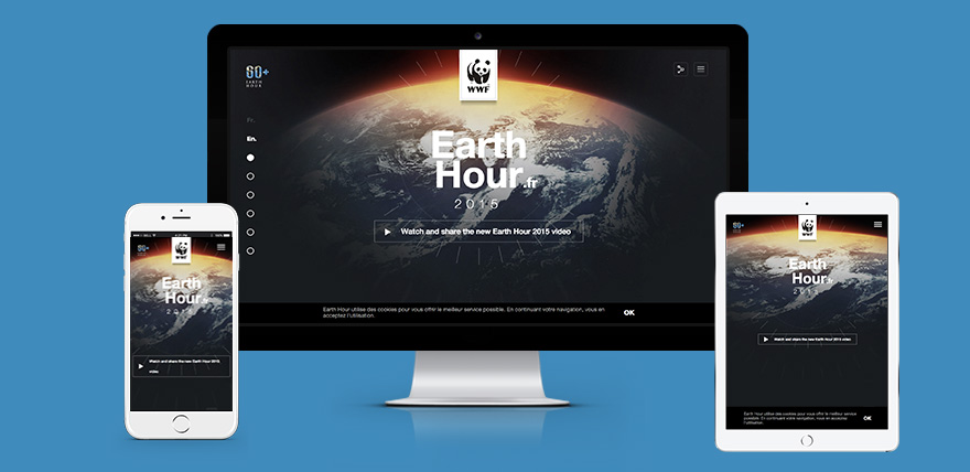 Increase Customer Retention like Earth Hour responsive website