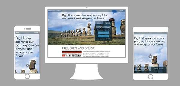 Big History Project website